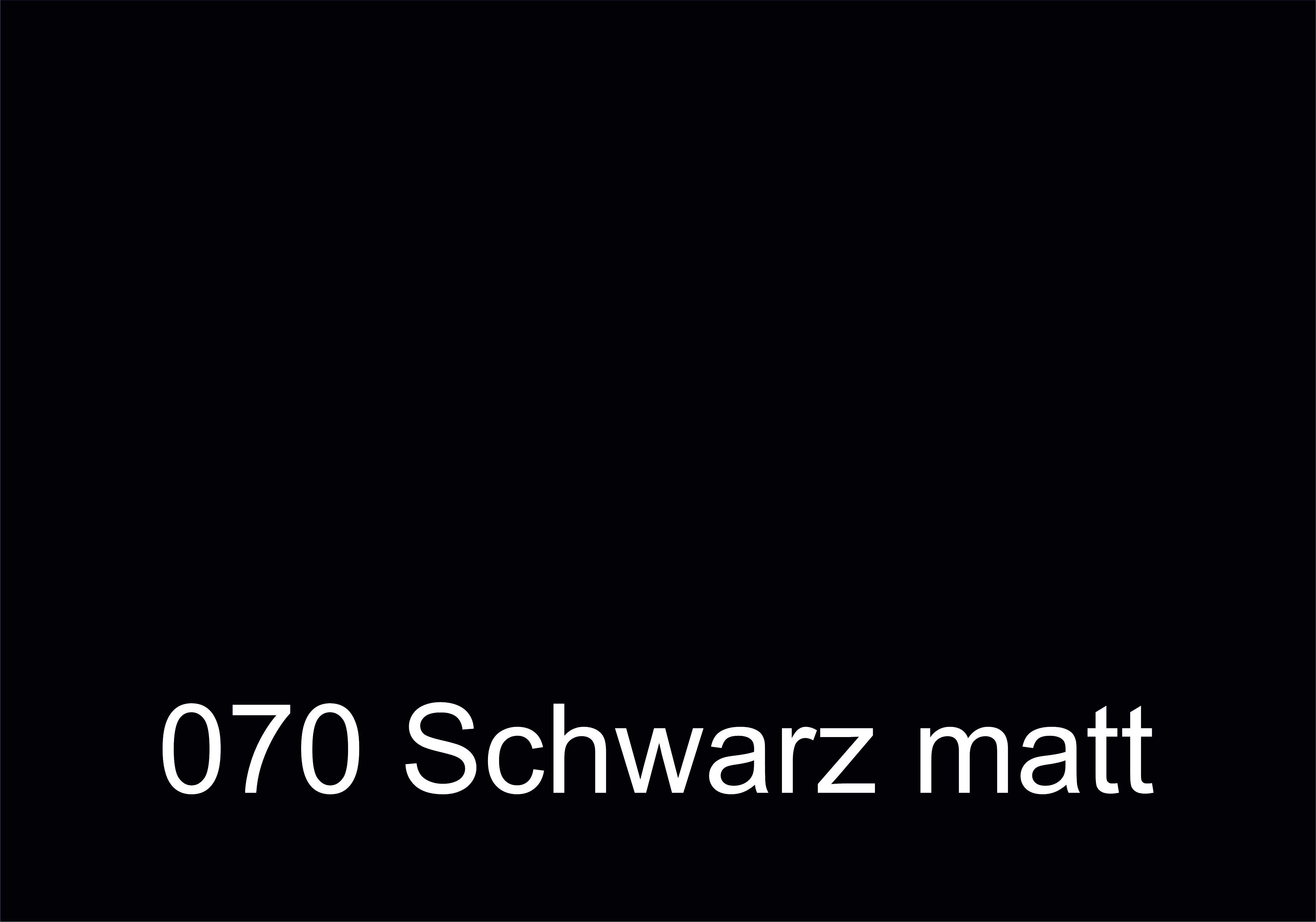070 Schwarz matt